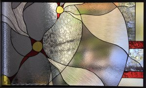 Abstract Clear Stained Glass