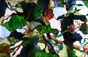 stained glass Tree canopy
