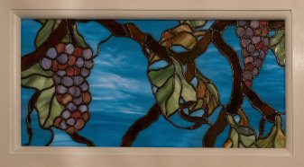 Stained Glass Grapes