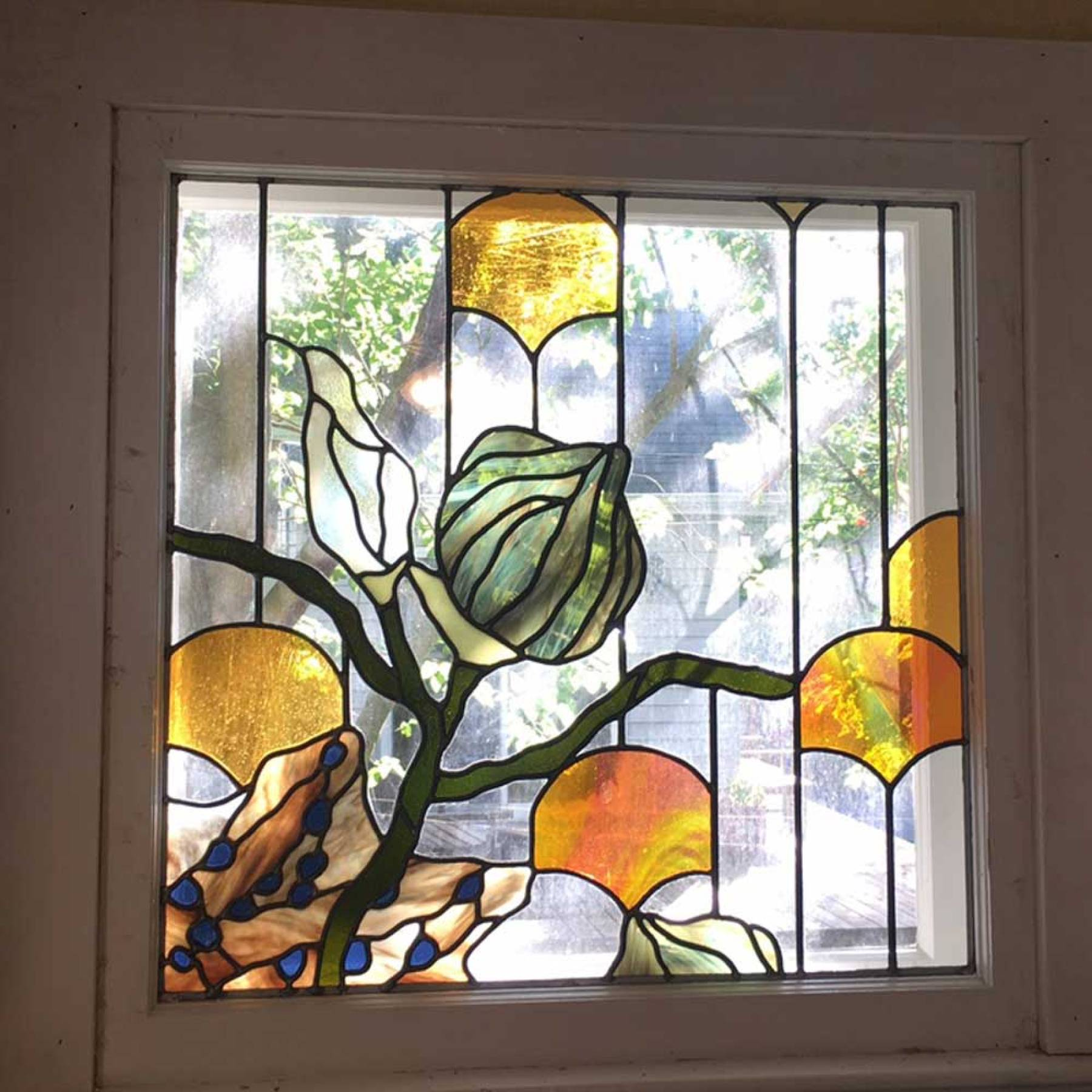 Stained glass seedpods