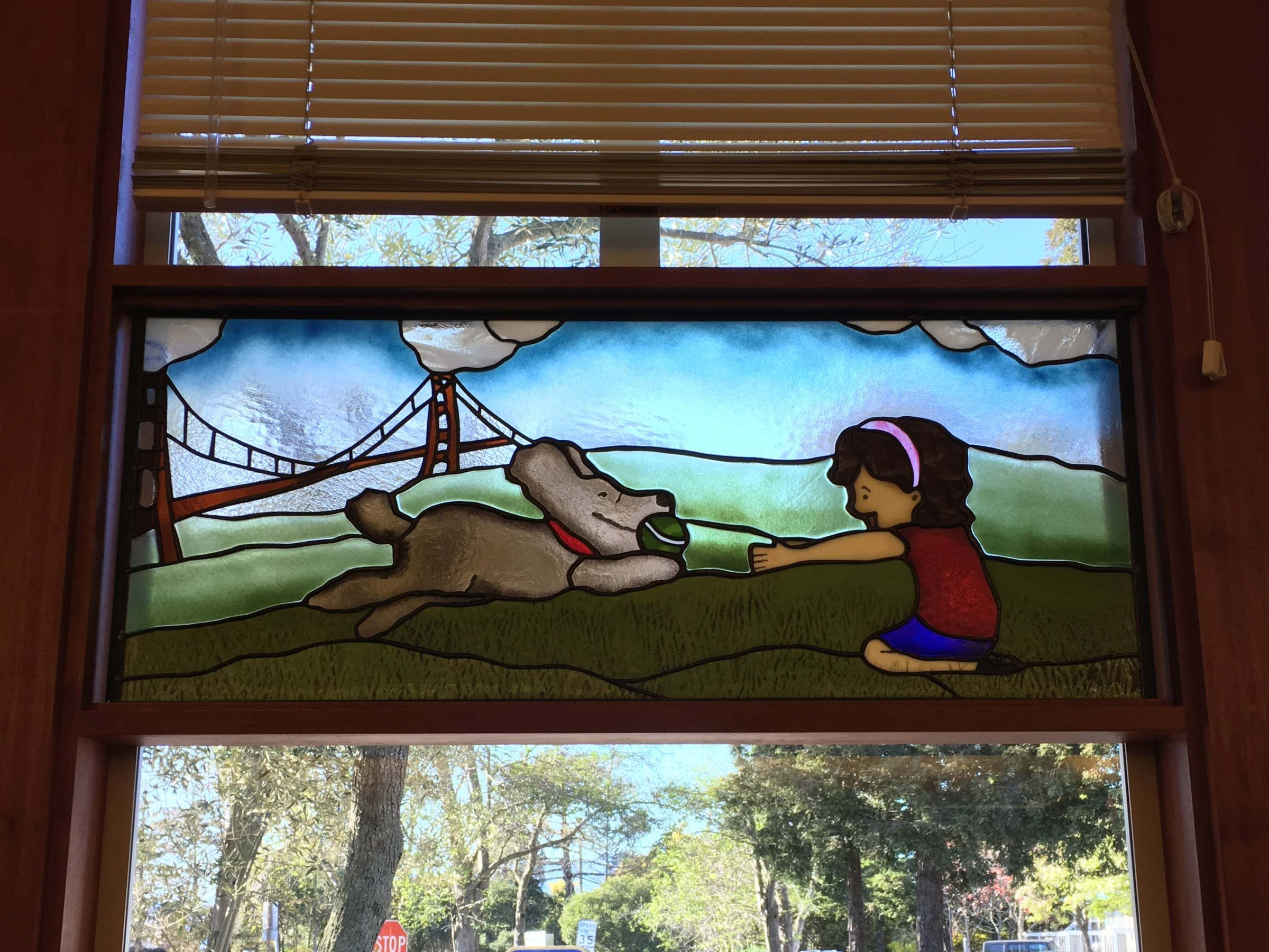 Tiburon Library Stained Glass
