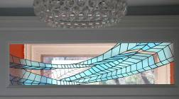 Contemporary Stained Glass Transom