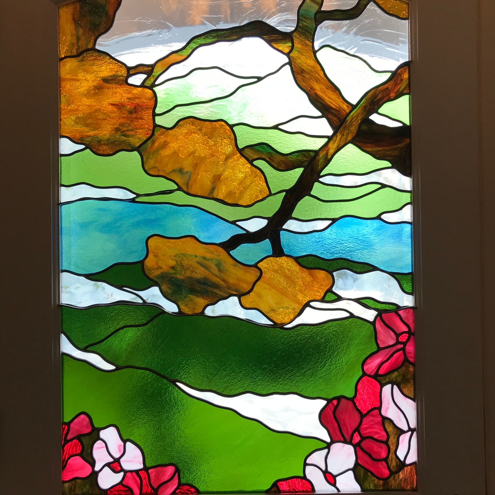 Leaded stianed glass for Bay Area home